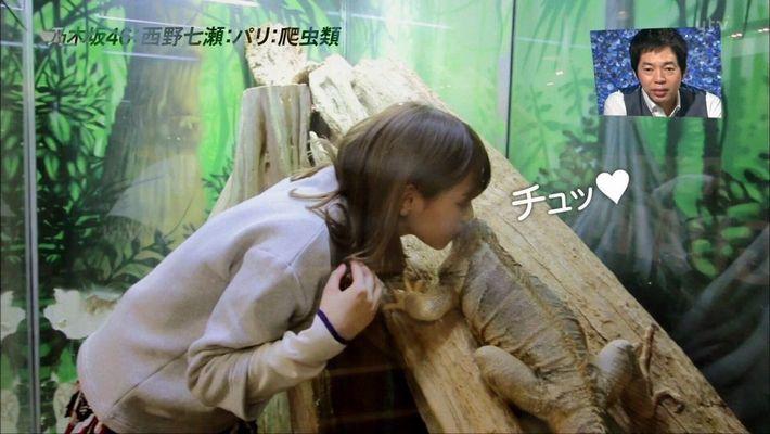 西野七瀬 イグアナ キス