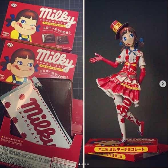 ミルキーチョコレート 空箱職人はるきるさん