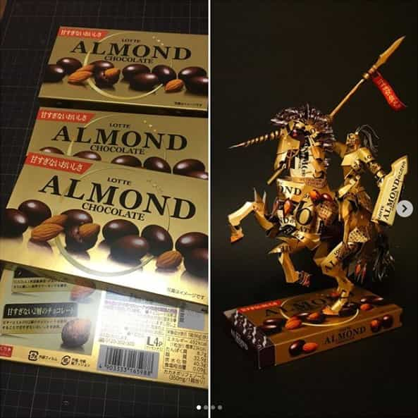 アーモンドチョコレート 空箱職人はるきるさん