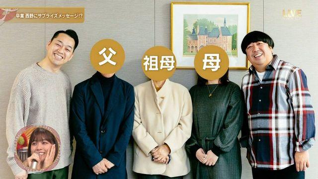 西野七瀬の家族