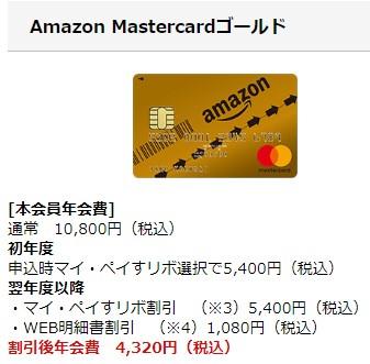 Amazon Mastercardゴールドカード